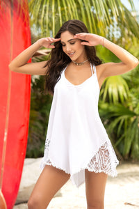 Mapale White Beach Dress Cover Up