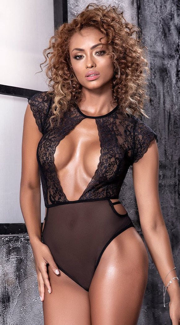 Mapale Mesh and Lace Body Suit