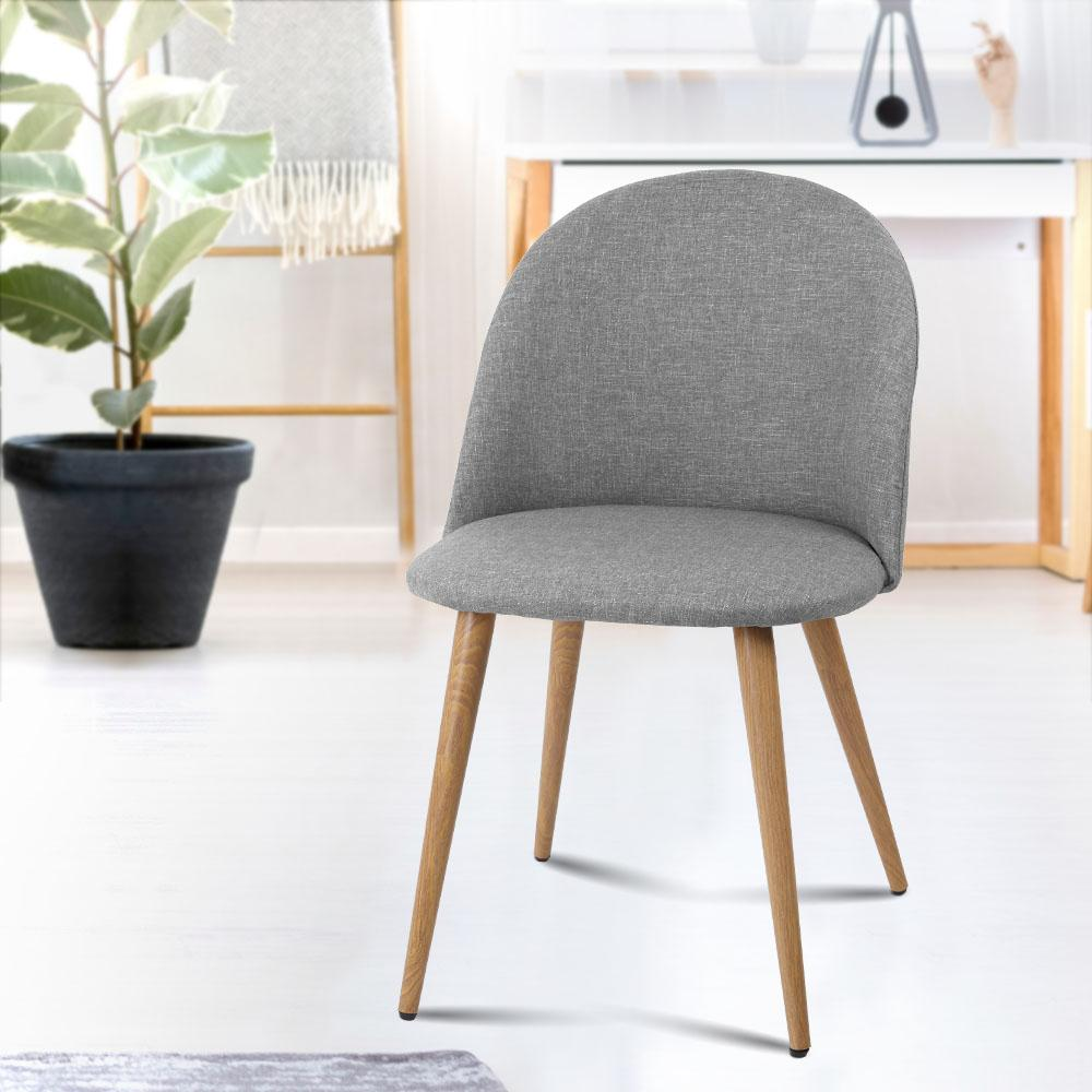 2 X Artiss Dining Chairs Light Grey - Pizzazz Hub