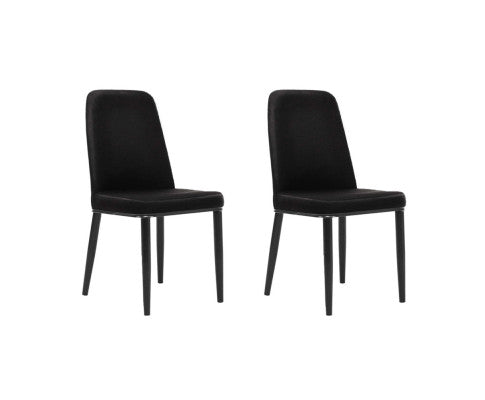 Artiss Dining Chairs Replica Kitchen Chair Black  x 2