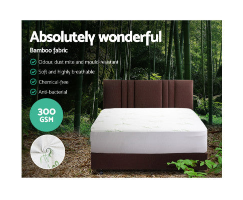 Giselle Bedding Giselle Bedding Bamboo Mattress Protector Double