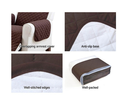 Artiss Sofa Lounge Cover Quilted Couch Covers Protector Slipcovers 3 Seater Coffee