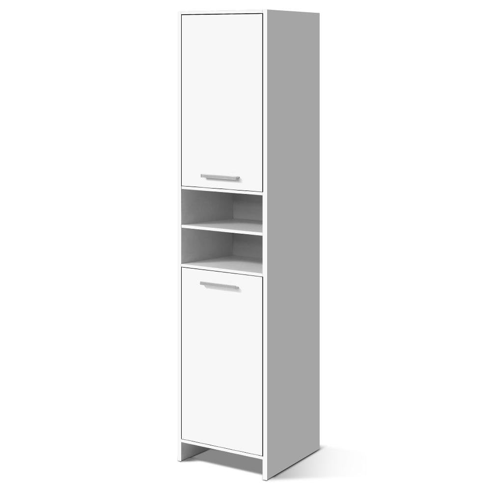 Artiss 185cm Bathroom Tallboy Toilet Storage Cabinet Laundry Cupboard Adjustable Shelf White - Pizzazz Hub