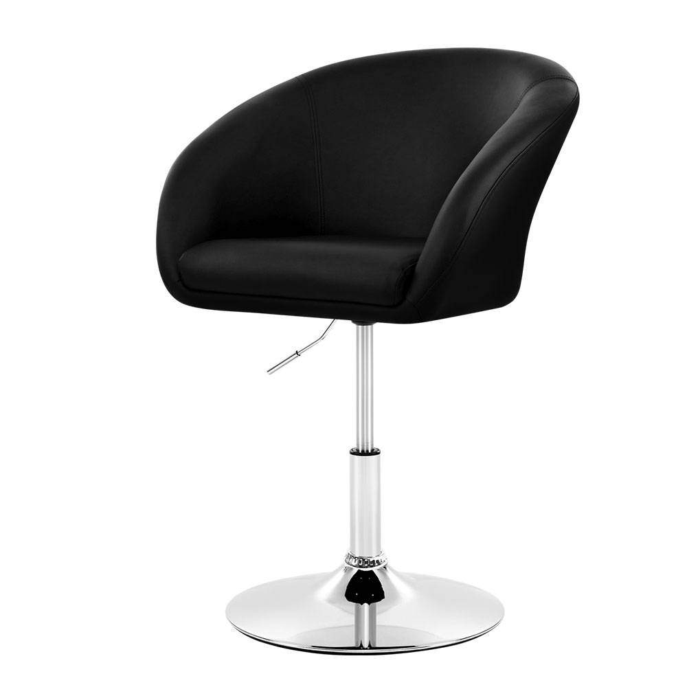 Artiss Bar Stools Gas Lift Leather - Black - Pizzazz Hub