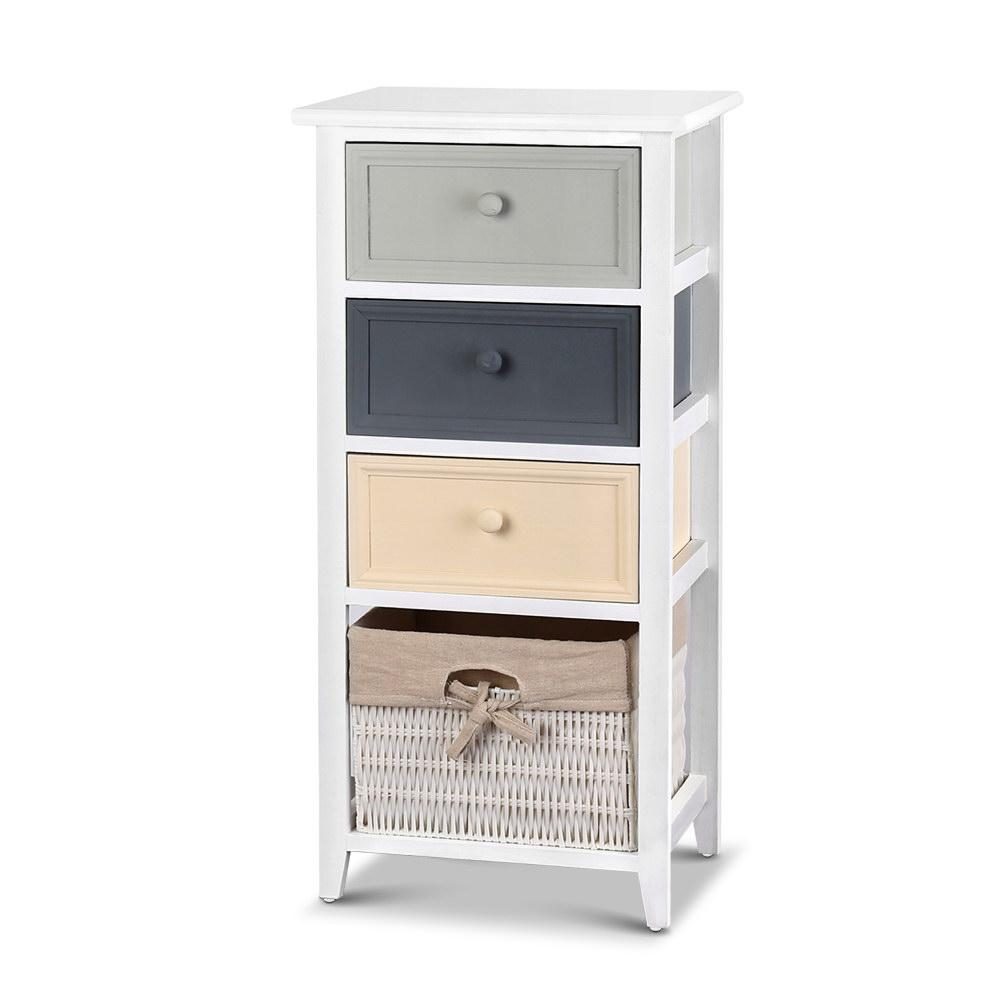 Artiss Bedroom Storage Cabinet - White - Pizzazz Hub