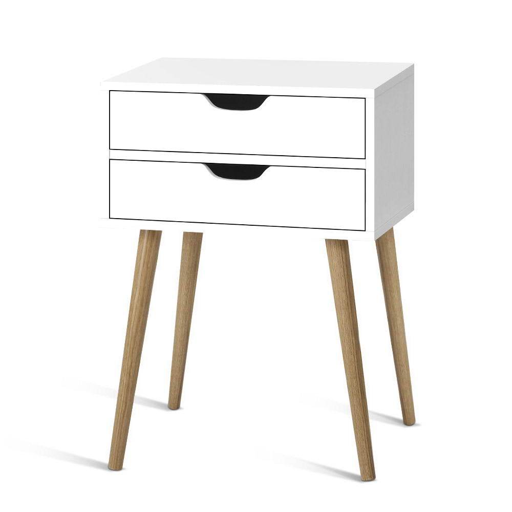 Artiss Bedside Tables - White - Pizzazz Hub