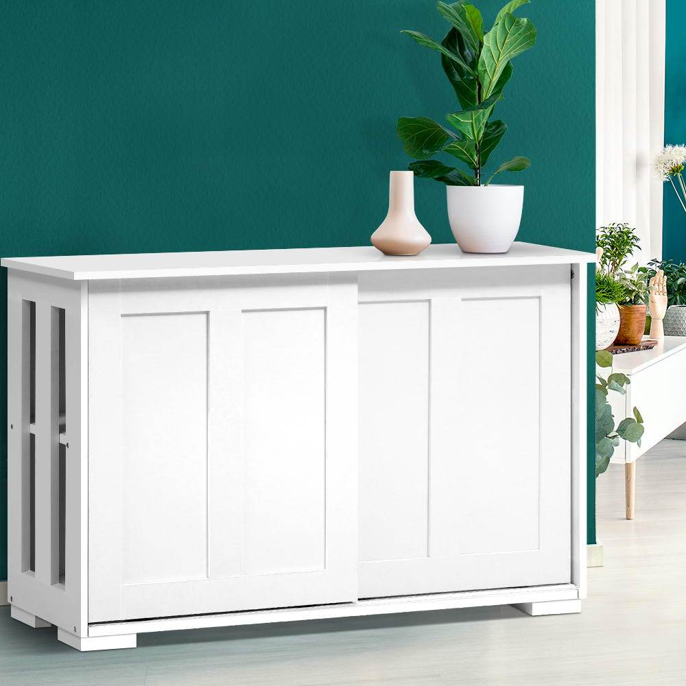Artiss Buffet Sideboard Cabinet White Doors - Pizzazz Hub