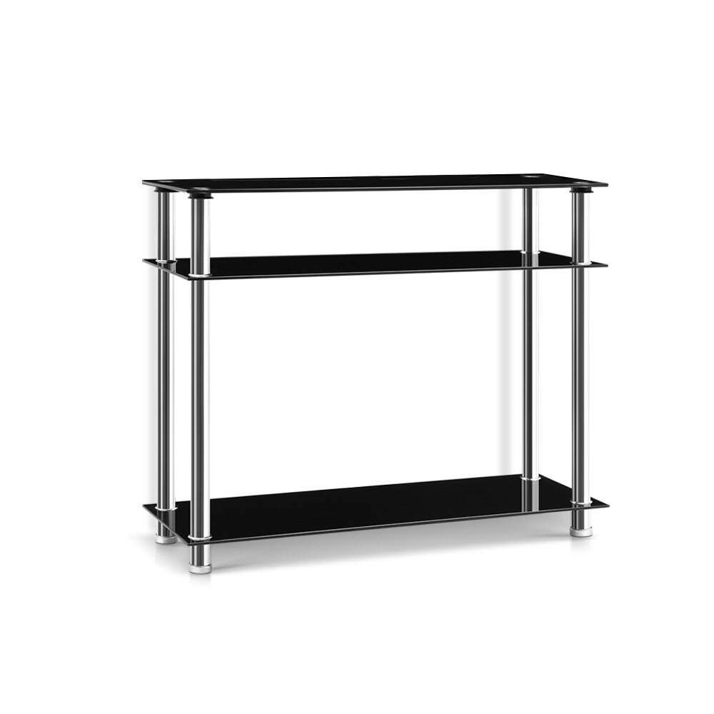 Artiss Entry Hall Console Table - Black & Silver - Pizzazz Hub