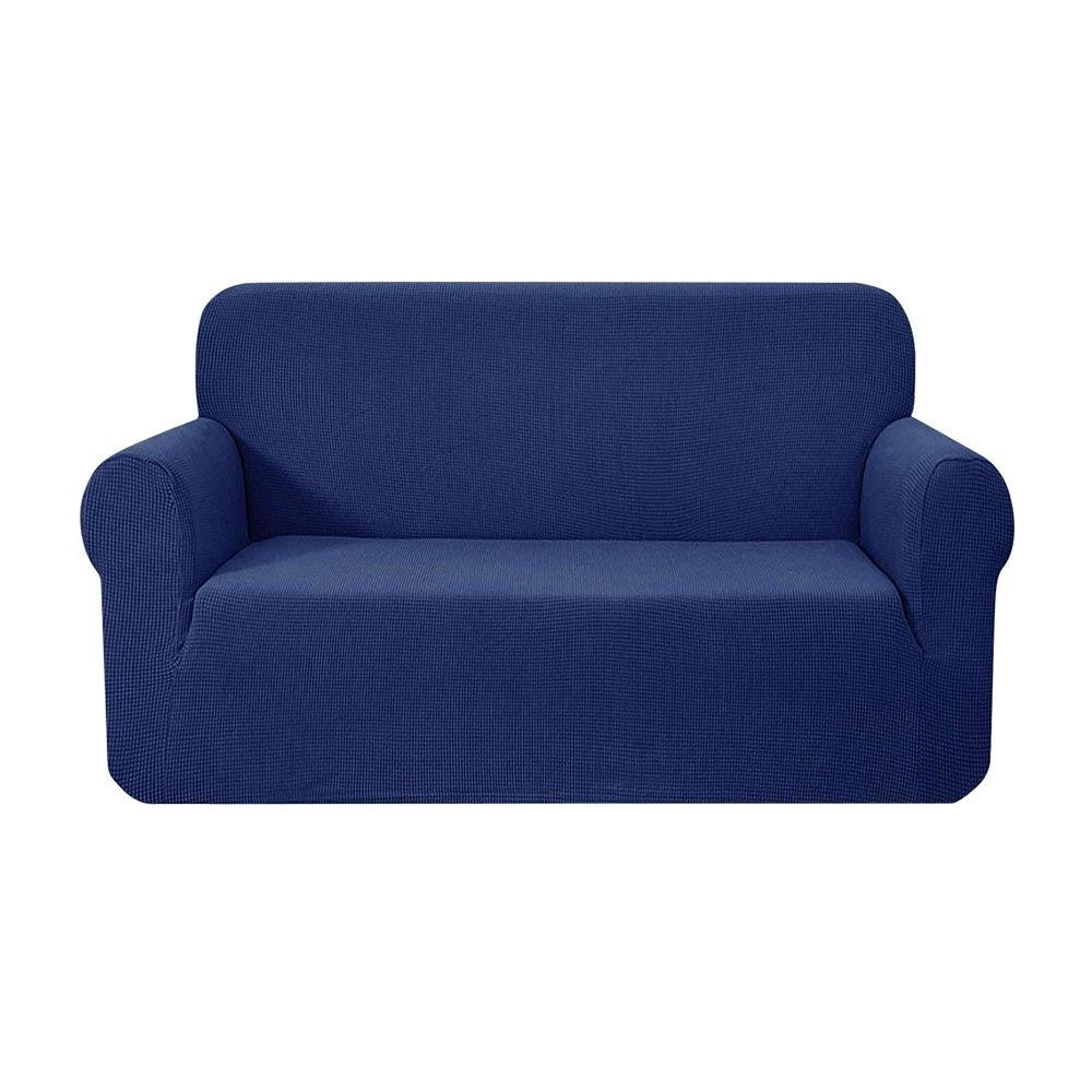 Artiss High Stretch Sofa Cover Couch Protector Slipcovers 2 Seater Navy - Pizzazz Hub
