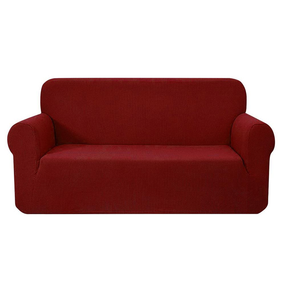 Artiss High Stretch Sofa Cover Couch Protector Slipcovers 3 Seater Burgundy - Pizzazz Hub