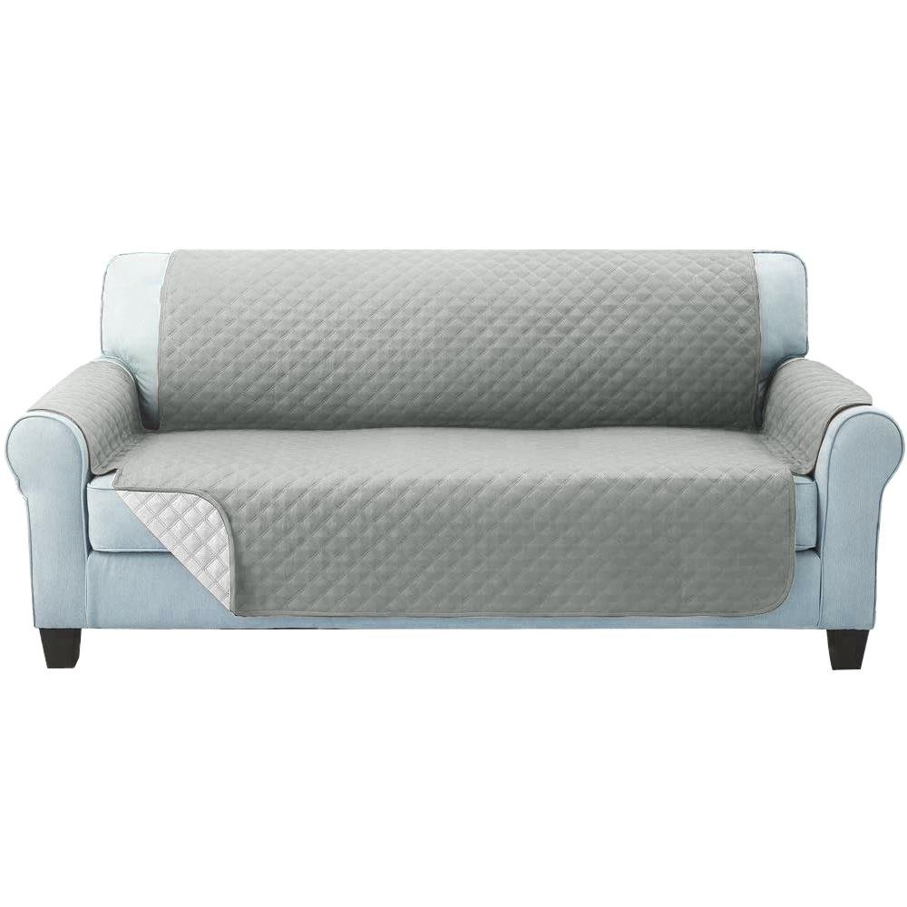 Artiss Sofa Cover Quilted Couch Covers Protector Slipcovers 3 Seater Grey - Pizzazz Hub