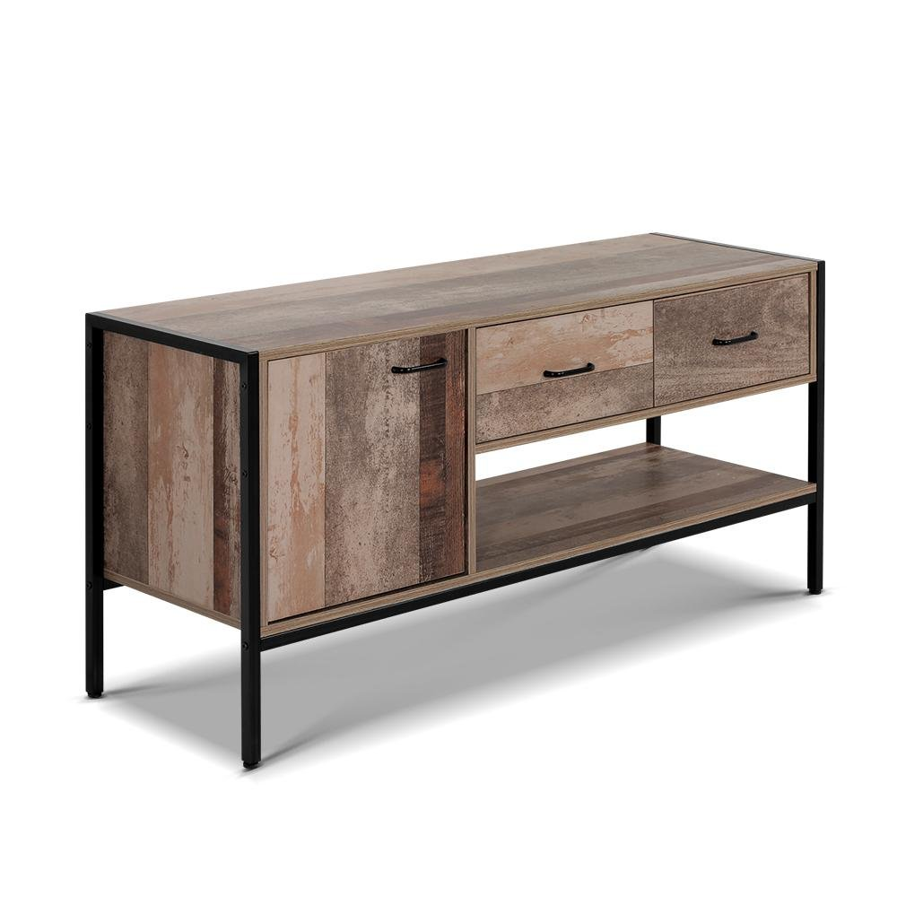 Artiss TV Stand Entertainment Unit Storage Cabinet Industrial Rustic Wooden 120cm - Pizzazz Hub