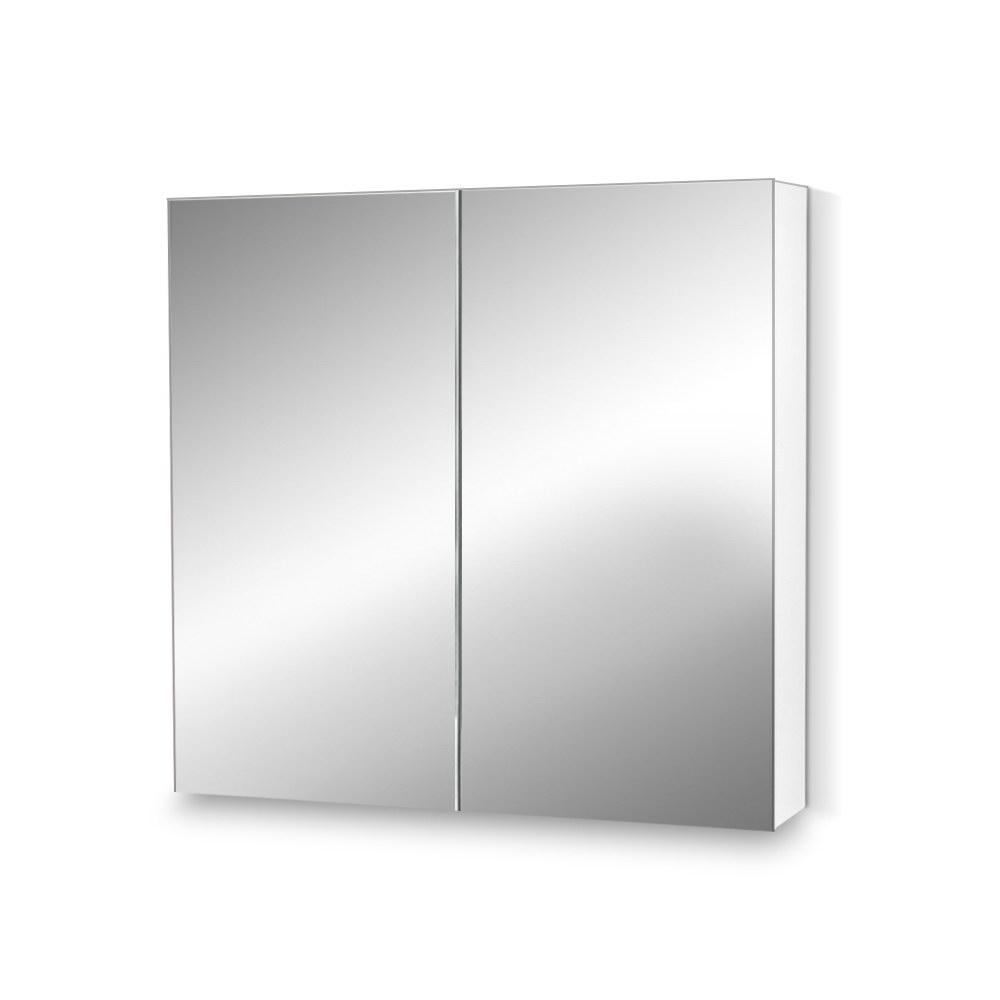Cefito Bathroom Vanity Mirror with Storage Cabinet - White - Pizzazz Hub