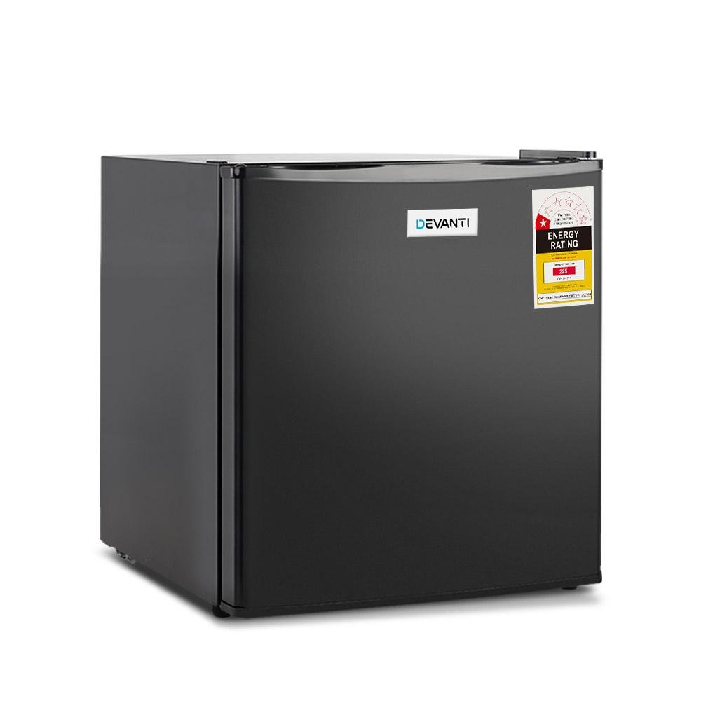 Devanti 48L Portable Mini Bar Fridge - Black - Pizzazz Hub