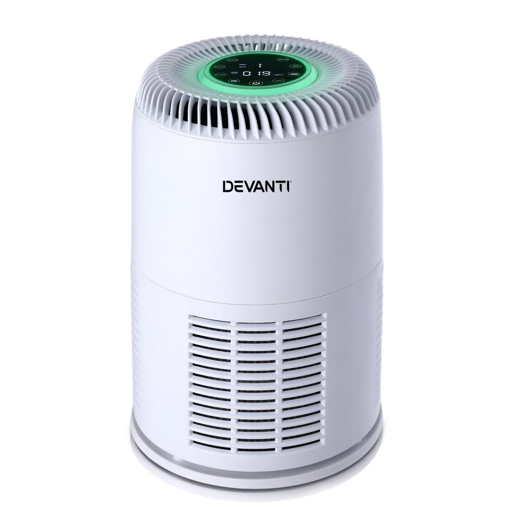 Devanti Air Purifier Desktop Purifiers HEPA Filter Home Freshener Carbon Ioniser - Pizzazz Hub
