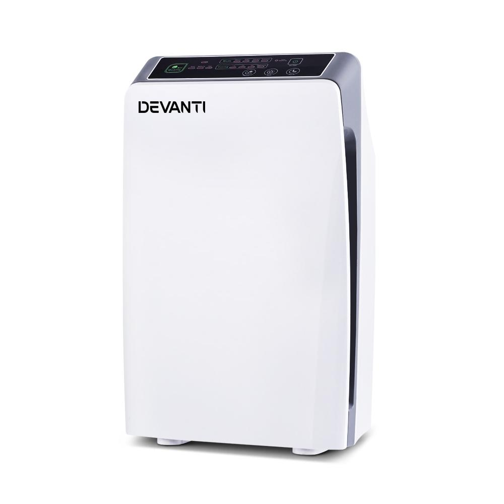 Devanti Air Purifier Purifiers HEPA Filter Home Freshener Carbon Ioniser Cleaner - Pizzazz Hub