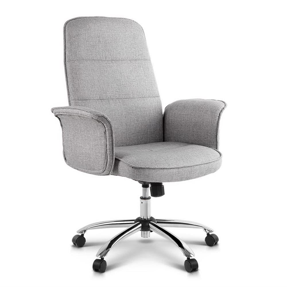 Fabric Office Desk Chair - Grey - Pizzazz Hub