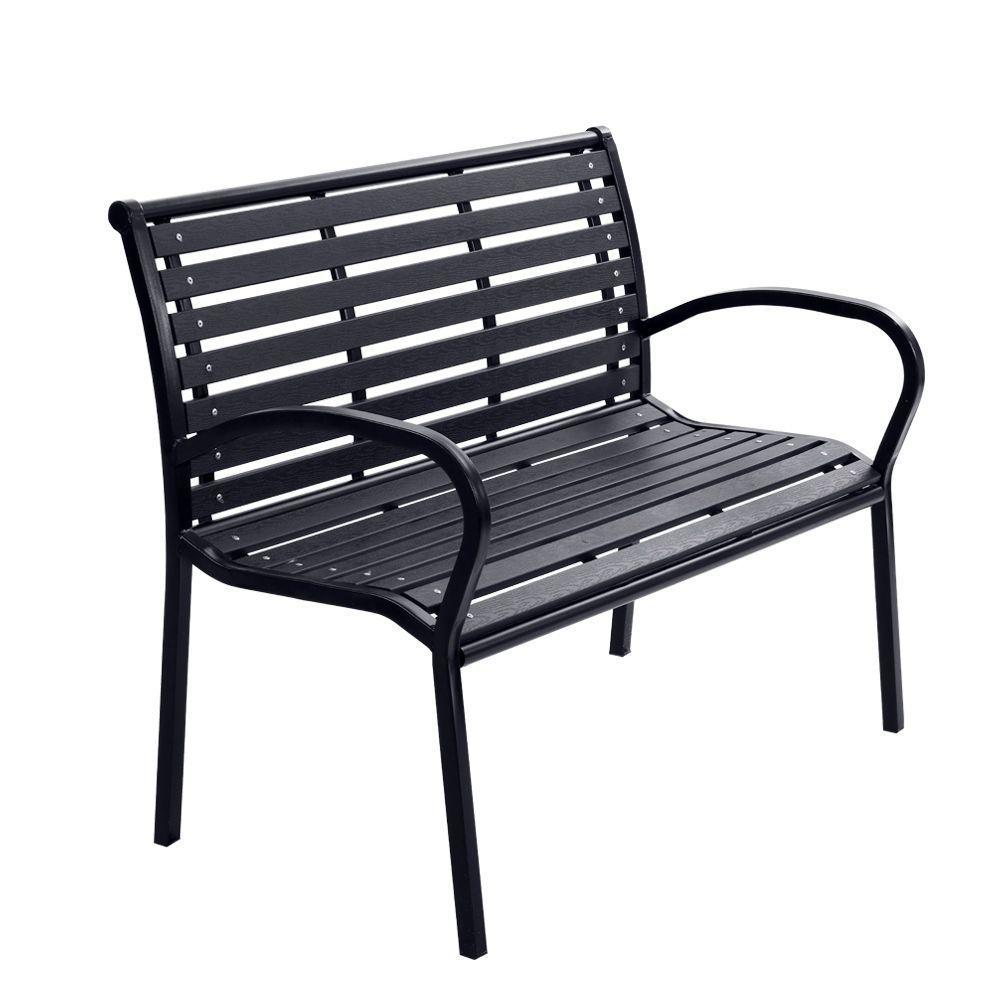 Gardeon Garden Bench - Black - Pizzazz Hub