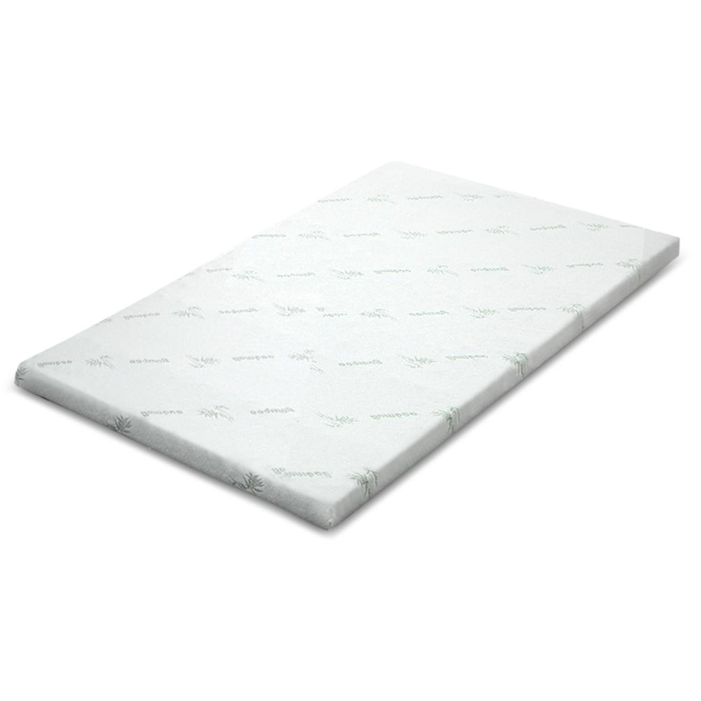 Giselle Bedding COOL GEL Memory Foam Mattress Topper BAMBOO Cover Queen 5CM Mat - Pizzazz Hub