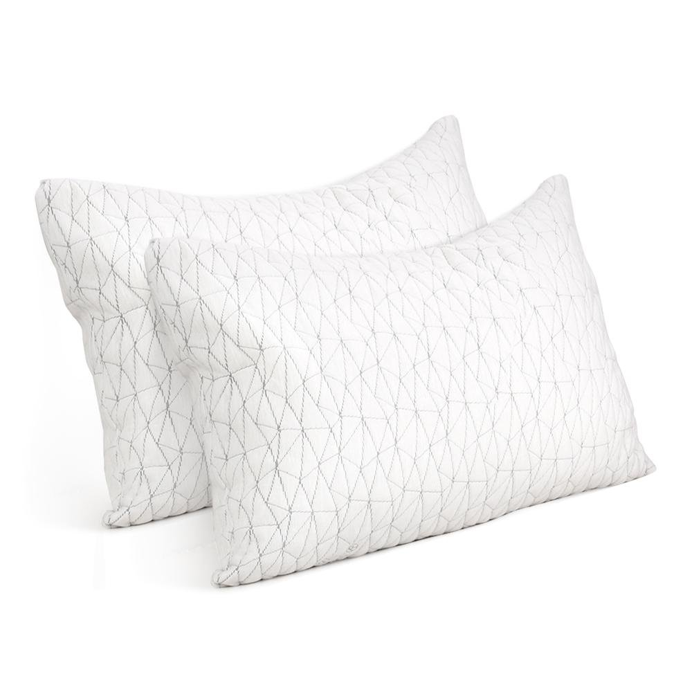 Giselle Bedding Set of 2 Rayon Single Memory Foam Pillow - Pizzazz Hub