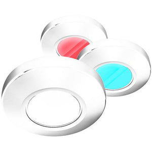 i2Systems Profile P1120 Tri-Light Surface Light - Red White & Blue - White Finish