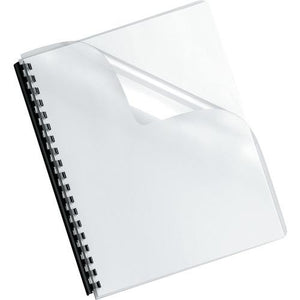 Fellowes Crystals Transparent Pvc Binding Cover, Oversized, 100pk (pack of 1 Ea)
