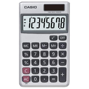 Casio Wallet Solar Calculator With 8-digit Display (pack of 1 Ea)