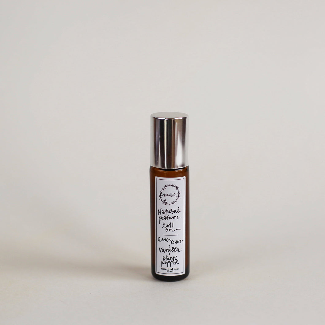 Ylang Ylang, Vanilla + Black Pepper | Essential Oil Perfume Roller