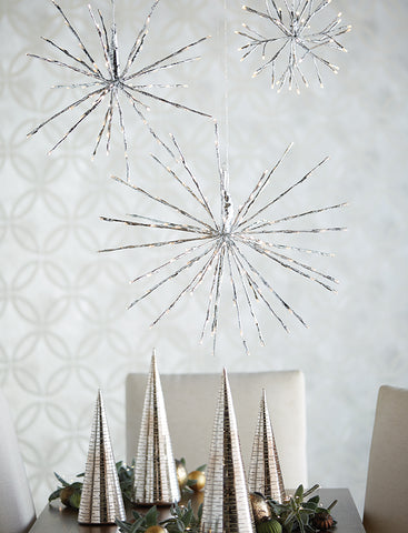 Christmas Light - Silver Starburst