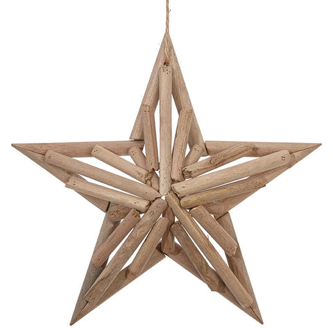 Christmas - Star Ornament Wooden 11.5""