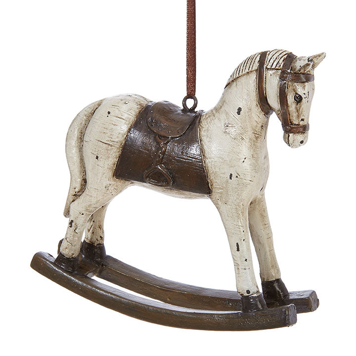 Christmas - Rocking Horse Ornament 4.5""