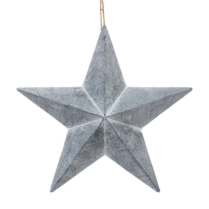 Christmas - Tin Metal Star Measures 12.5""