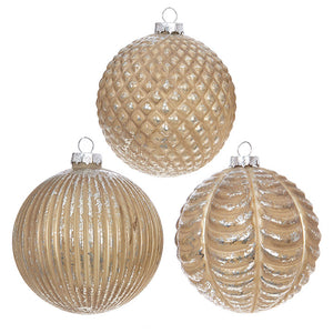 Ball Ornaments - Set of 3 assorted