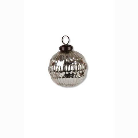 Christmas - Round Mercury Glass Ornament 2.5""