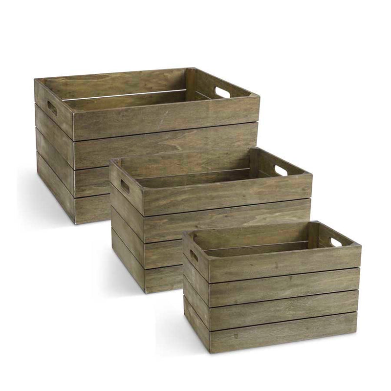 Set of 3 Wooden Nesting crates