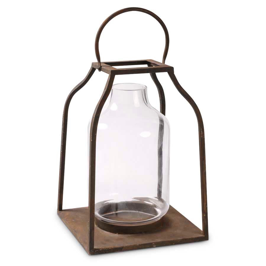 Lantern - Bronze w/ Glass Hurricane