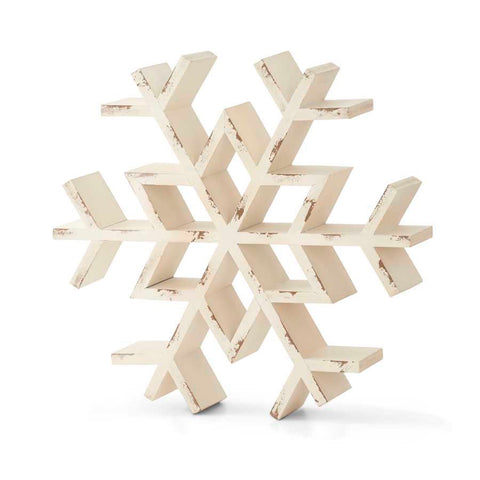 Christmas - White Tabletop Snowflake