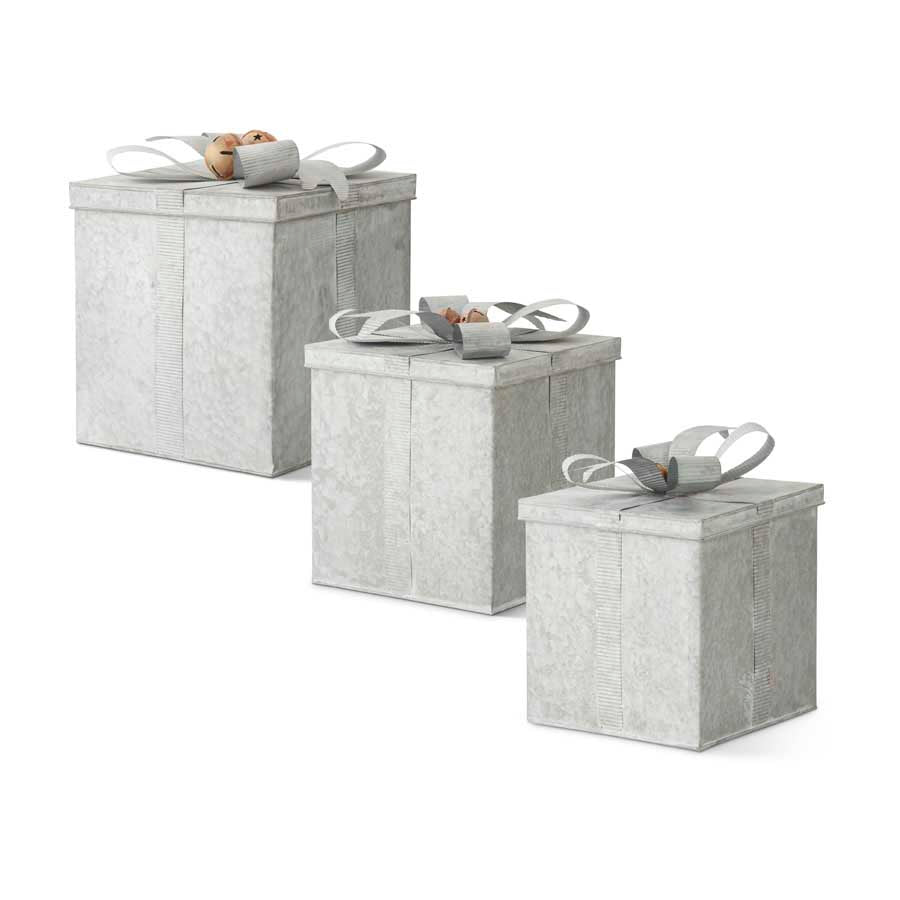 Nesting Gift Boxes, Tin / Set of 3