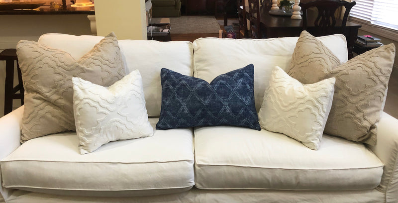 Oatmeal Linen and Chenille Pillow