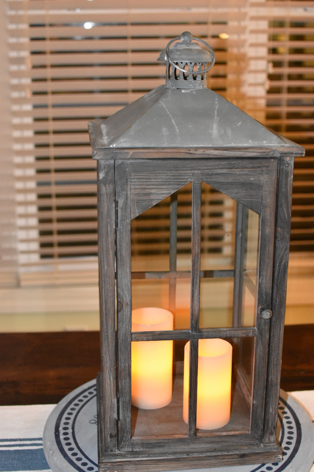 Rustic Chapel Window Lantern
