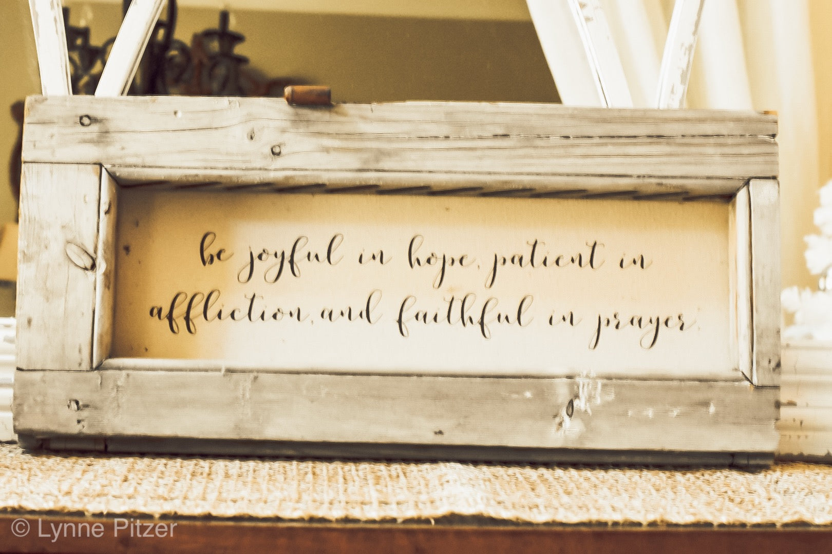 Wooden Sign - Be Joyful in Hope Sign