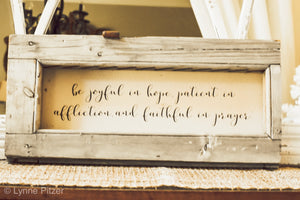 Be Joyful in Hope Sign