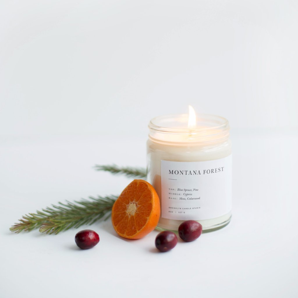 Candle - Montana Forest Minimalist Candle by Brooklyn Candle Studio