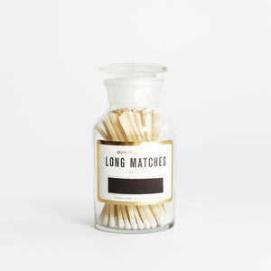 Matches in Apothecary Bottle - White Tips