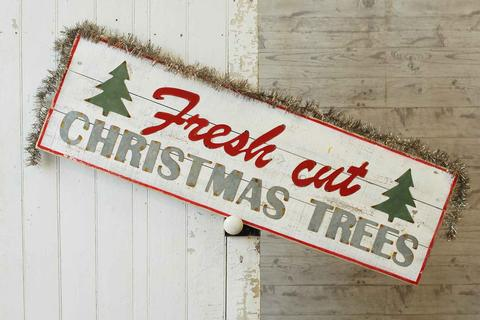 Christmas Sign - Vintage Fresh Cut Christmas Trees