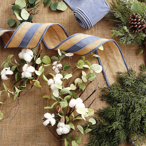 Ribbon - Chambray and Jute Ribbon