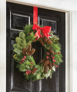 Christmas Wreath - Mixed Cedar, Pine and Magnolia