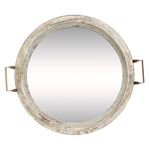 Distressed mirror(TRAY OR HANG)