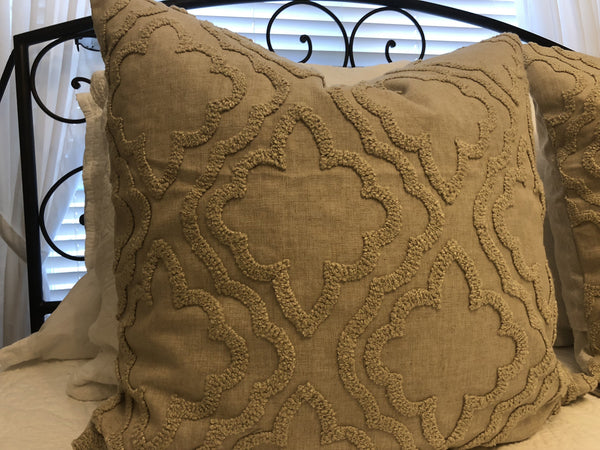 Pillow - Oatmeal Linen and Chenille