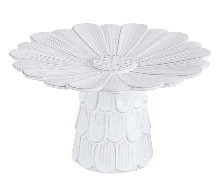 Pedestal - White Flower terra-cotta